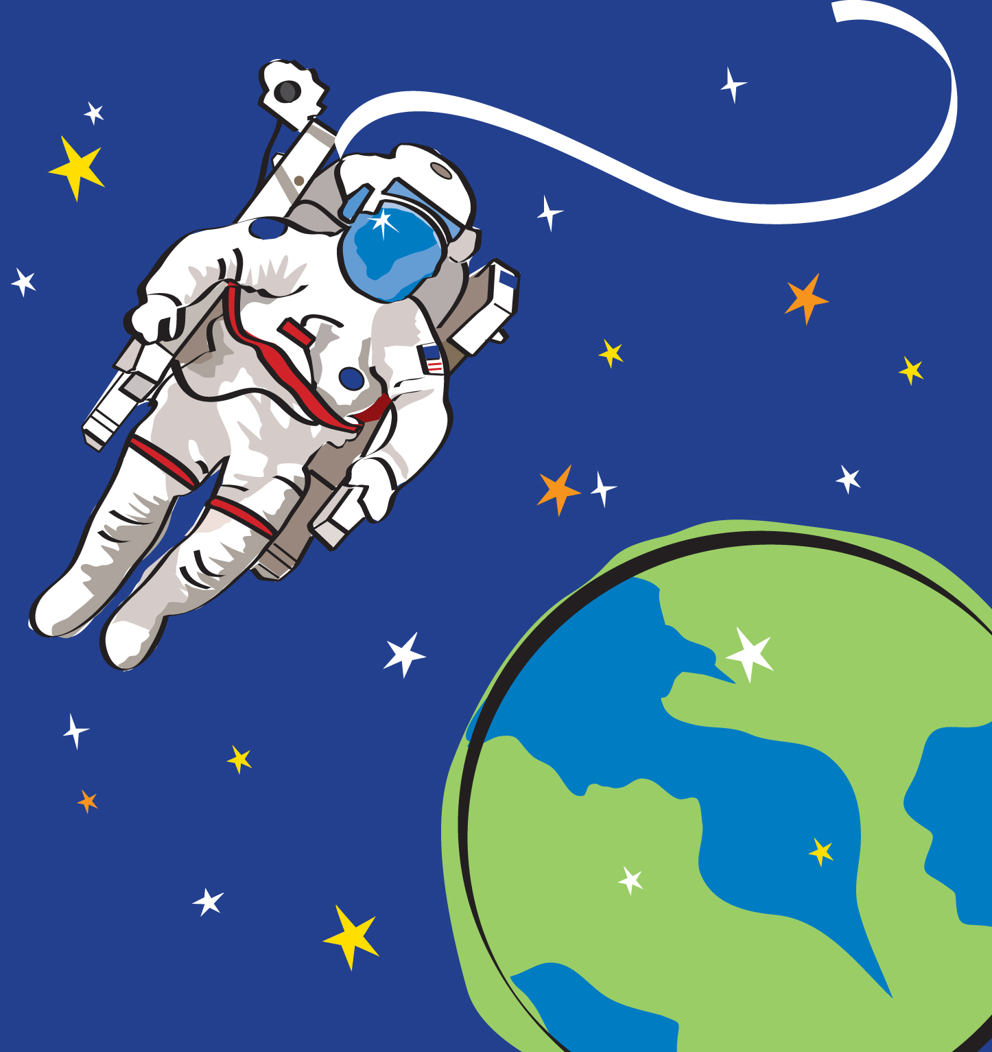 Astronaut Illustration - Pics about space